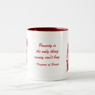 Diogenes Poverty (2) Two-Tone Coffee Mug