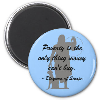 Diogenes Poverty Magnet