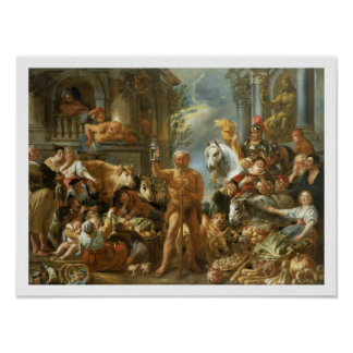 Diogenes Searching for an Honest Man, c.1650-55 (o Poster
