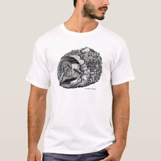 Diogenes surreal pen ink black and white drawing T-Shirt
