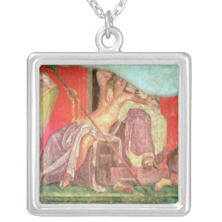 Dionysian Entourage with Dionysus Silver Plated Necklace