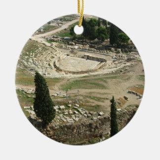 Dionysus Theater Round Ceramic Ornament
