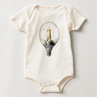 Diorama Light bulb Lighthouse Baby Bodysuit