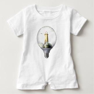 Diorama Light bulb Lighthouse Baby Romper