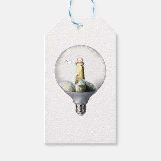 Diorama Light bulb Lighthouse Gift Tags
