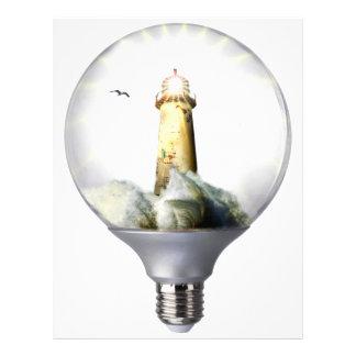 Diorama Light bulb Lighthouse Letterhead