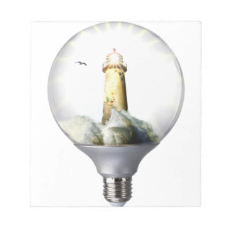 Diorama Light bulb Lighthouse Notepad
