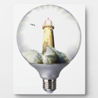 Diorama Light bulb Lighthouse Plaque