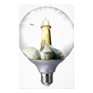 Diorama Light bulb Lighthouse Stationery