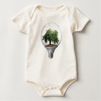 Diorama Light bulb Tree Baby Bodysuit