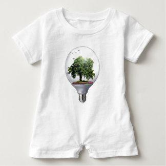 Diorama Light bulb Tree Baby Romper
