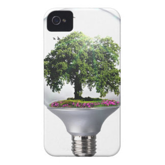 Diorama Light bulb Tree iPhone 4 Covers