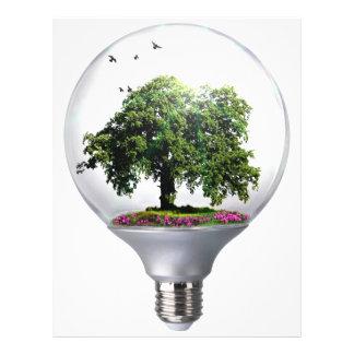 Diorama Light bulb Tree Letterhead