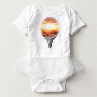 Diorama Sunrise Light Bulb Baby Bodysuit
