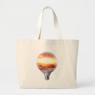 Diorama Sunrise Light Bulb Large Tote Bag