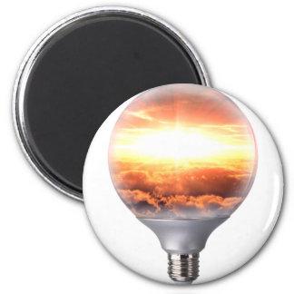 Diorama Sunrise Light Bulb Magnet