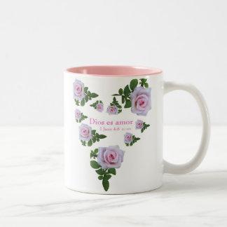 Dios es Amor Two-Tone Coffee Mug