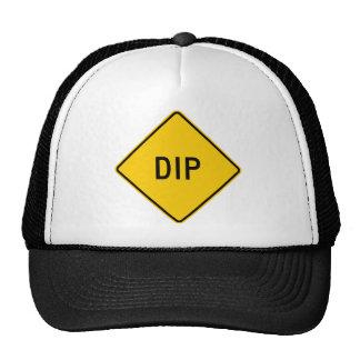 Dip Highway Warning Sign Trucker Hat