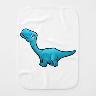 Diplodocus Dinosaur Cartoon Character Burp Cloth