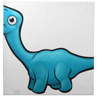 Diplodocus Dinosaur Cartoon Character Napkin