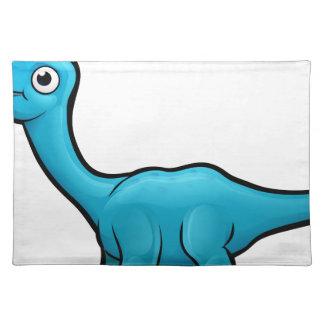Diplodocus Dinosaur Cartoon Character Placemat
