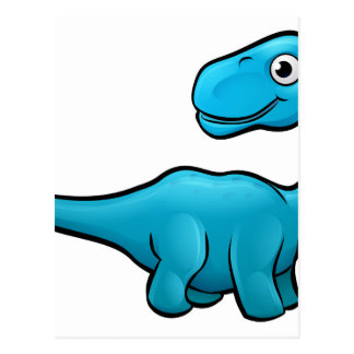 Diplodocus Dinosaur Cartoon Character Postcard