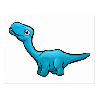 Diplodocus Dinosaur Cartoon Character Postcard