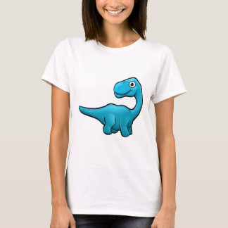 Diplodocus Dinosaur Cartoon Character T-Shirt