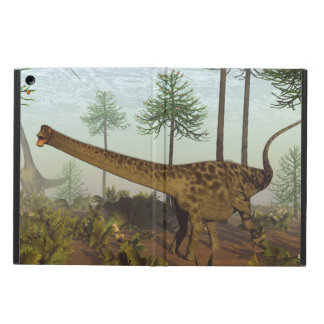 Diplodocus dinosaurs among araucaria trees - 3D re Cover For iPad Air