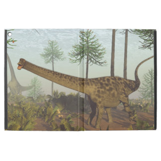 "Diplodocus dinosaurs among araucaria trees - 3D re iPad Pro 12.9"" Case"