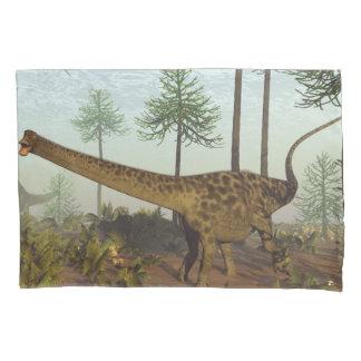 Diplodocus dinosaurs among araucaria trees - 3D re Pillowcase