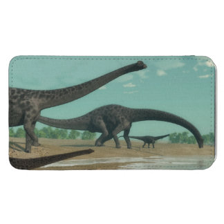 Diplodocus dinosaurs herd - 3D render Phone Pouch