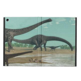 Diplodocus dinosaurs herd - 3D render iPad Air Cover
