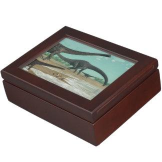 Diplodocus dinosaurs herd - 3D render Keepsake Box