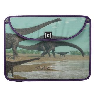 Diplodocus dinosaurs herd - 3D render Sleeve For MacBook Pro