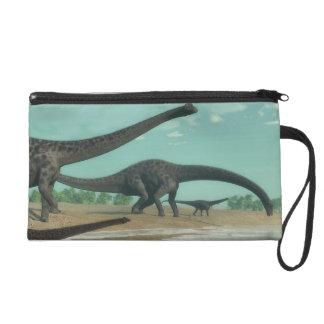 Diplodocus dinosaurs herd - 3D render Wristlet