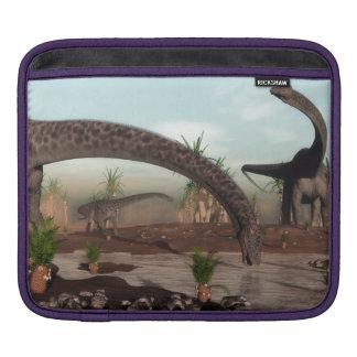 Diplodocus dinosaurs herd going to drink iPad sleeve