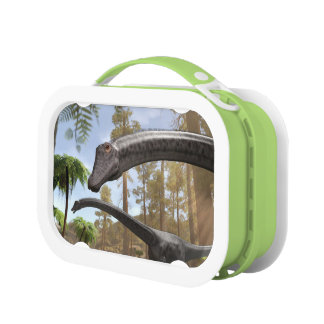 Diplodocus Dinosaurs in a Prehistoric Forest Lunch Box