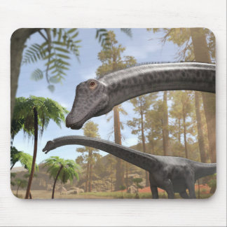 Diplodocus Dinosaurs in a Prehistoric Forest Mouse Pad