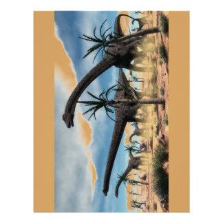 Diplodocus herd in the desert letterhead