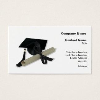 Diploma and Graduation Cap ( Mortar Board ) Business Card