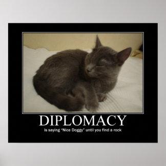 Diplomacy Cat Artwork Poster