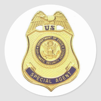 Diplomatic Security sticker (White background)