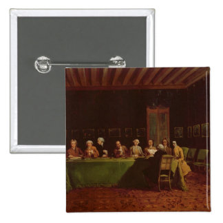 Diplomats Meeting (oil on canvas) 2 Inch Square Button