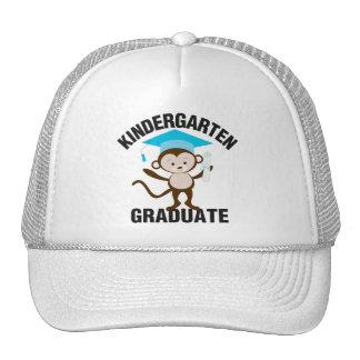 Diplômé bleu de jardin d'enfants casquettes