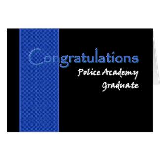 Diplômé d école de police de FÉLICITATIONS Carte
