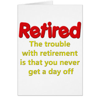 Dire drôle de retraite carte de vœux