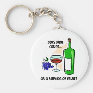 Dire drôle d'humour de vin porte-clefs