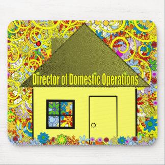 Directeur des opérations domestiques tapis de souris