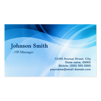 Directeur d'heure - créatif bleu moderne carte de visite standard